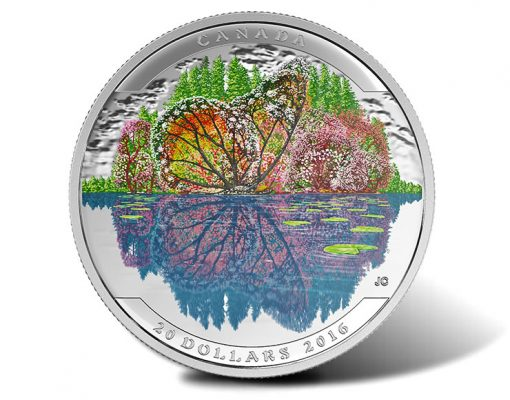 Canadian 2016 $20 Landscape Illusion Butterfly Silver Coin