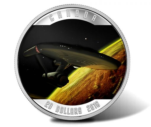 Canadian 2016 $20 Star Trek Enterprise 1 oz Silver Coin