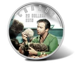 Canadian 2016 $20 The Trouble with Tribbles Silver Coin