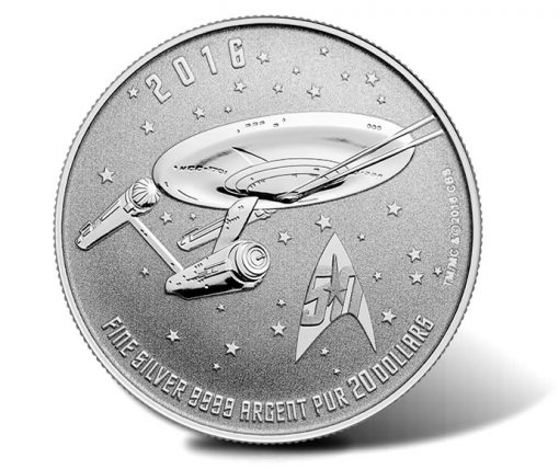 Canadian 2016 $20 for $20 Star Trek Enterprise Silver Coin