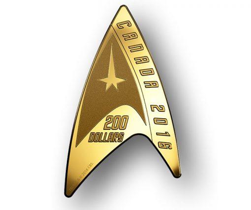 Canadian 2016 $200 Star Trek Delta Gold Coin