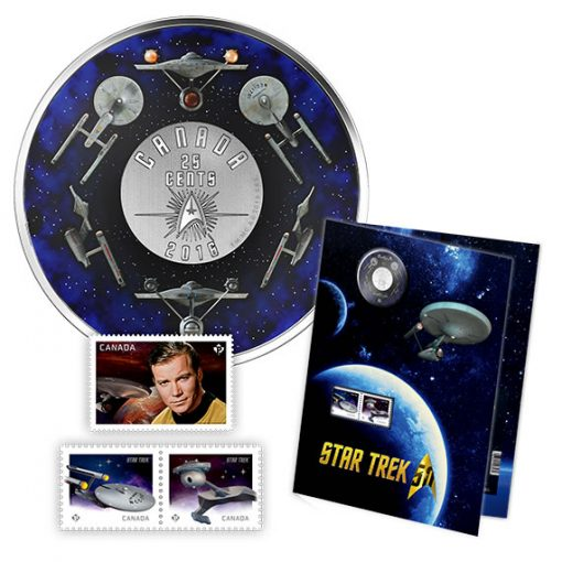 Canadian 2016 Star Trek Coin and Stamp Set