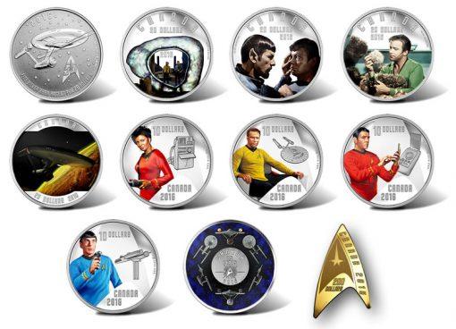Canadian 2016 Star Trek Collector Coins