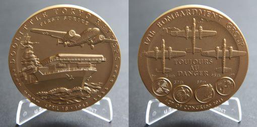 Doolittle Tokyo Raiders 3-Inch Bronze Medal