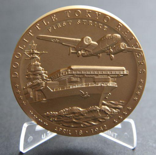 Doolittle Tokyo Raiders 3-Inch Bronze Medal, Obverse