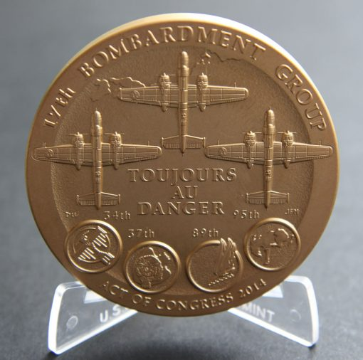 Doolittle Tokyo Raiders 3-Inch Bronze Medal, Reverse