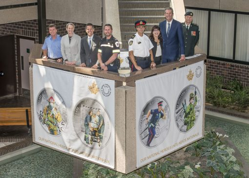 Unveiling of 2016 $15 Canadian National Heroes Coins