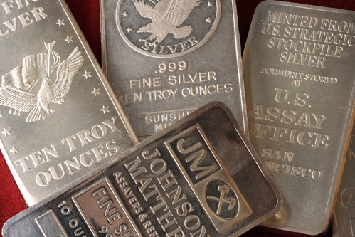 silver bars, 3 and 1