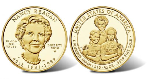 2016 $10 Proof Nancy Reagan First Spouse Gold Coins