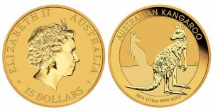 2016 Australian Kangaroo 1-10oz Gold Bullion Coin