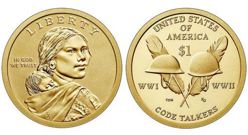 2016-W Enhanced Uncirculated Native American $1 Coin