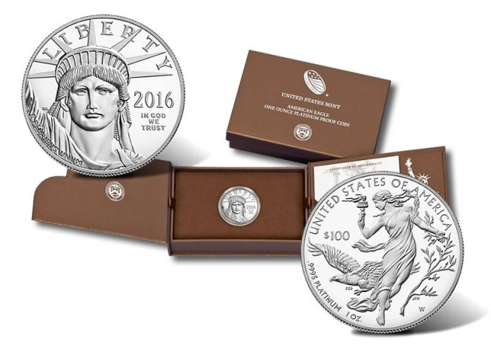2016-W Proof American Platinum Eagle Coin and Case