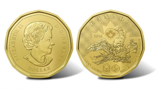 Canadian 2016 Lucky Loonie