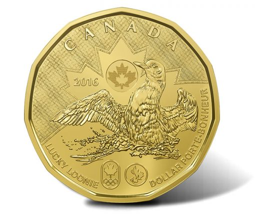 Canadian 2016 Lucky Loonie, reverse