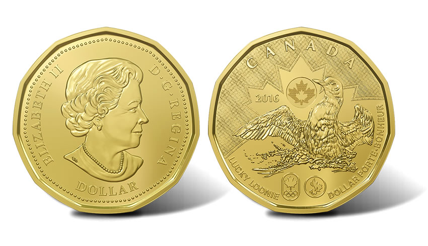 2016 Canada Rio Olympic and Paralympic Games Lucky Loonie $1 Dollar 5-Coin Pack