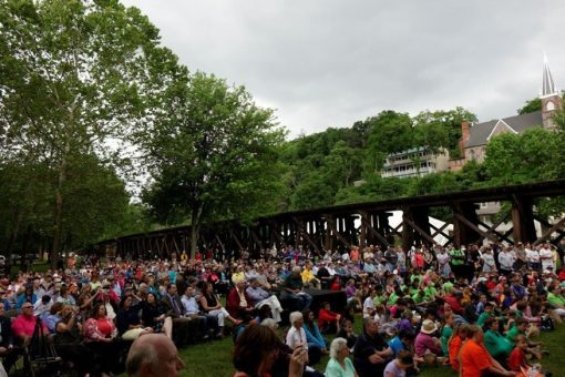Crowd at Harpers Ferry quarters launch