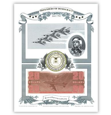 Defenders of Democracy Air Force Intaglio Print