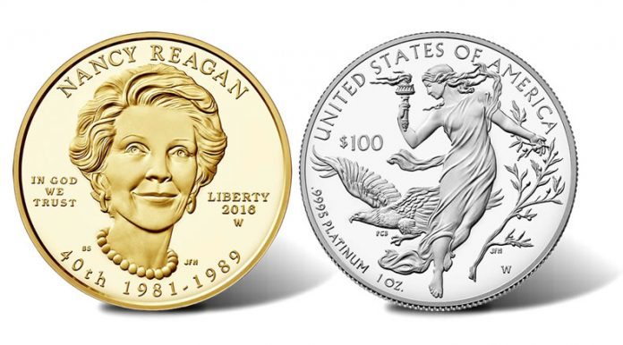Nancy Reagan gold coin and proof Platinum Eagle