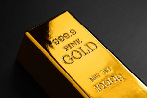 closeup of gold bullion
