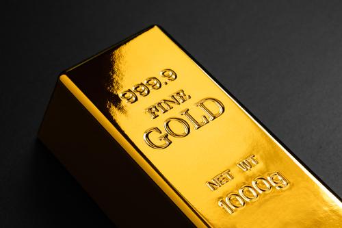 closeup of gold bullion