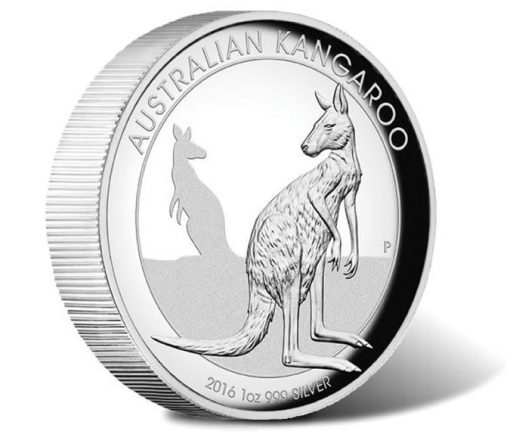 2016 Australian Kangaroo 1 Oz Silver Proof High Relief Coin