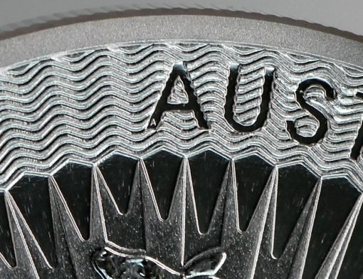 2016 Australian Kangaroo Silver Bullion Coin, micro-engraved A