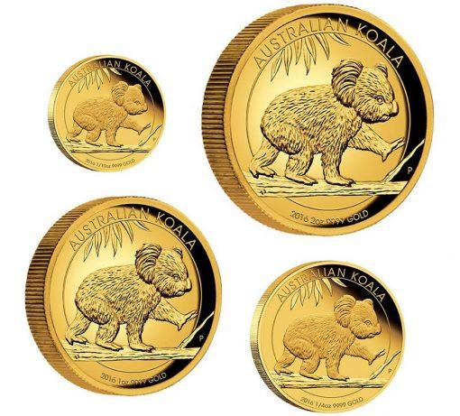 2016 Australian Koala Gold Proof Coins