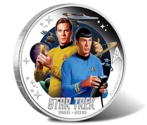 2016 Captain James T. Kirk and Spock 1 oz Silver Proof Coin