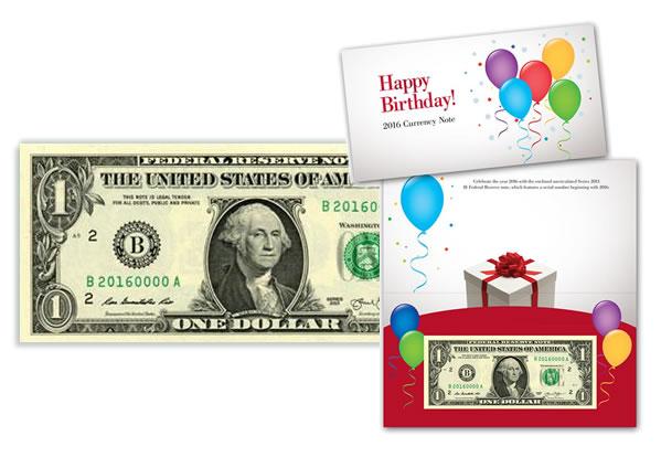 2016 Happy Birthday $1 Note