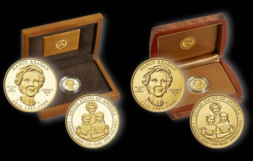 2016 Nancy Reagan First Spouse Gold Coins and Cases