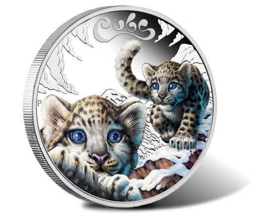 2016 Snow Leopard Cubs one-half oz Silver Proof Coin