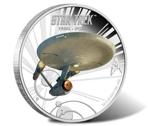 2016 U.S.S. Enterprise NCC-1701 1 oz Silver Proof Coin
