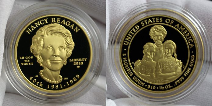 2016-W $10 Nancy Reagan First Spouse Gold Proof Coin