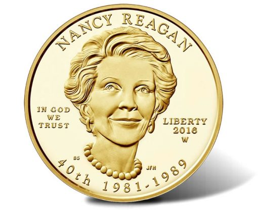 2016-W $10 Proof Nancy Reagan First Spouse Gold Coin, Obverse