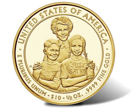 2016-W $10 Proof Nancy Reagan First Spouse Gold Coin, Reverse