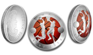 Canadian 2016 Convex-Shaped Coin Emulates Basketball