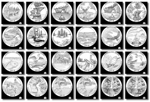 Design candidates 2018 America the Beautiful Quarters