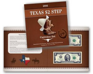 Texas $2 Step Currency Set Features Matching Serial Numbers