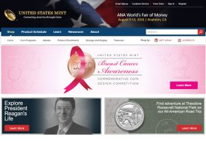 US Mint Website, Breast Cancer Design