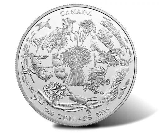 2016 $200 Canada's Vast Prairies Silver Coin