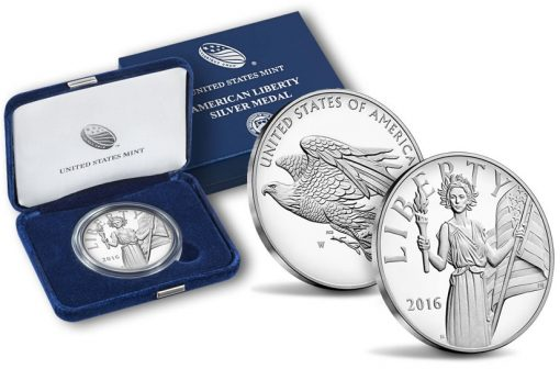 2016 American Liberty Silver Medals and Packaging