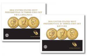 2016 P&D Reagan, Ford and Nixon Dollars Released in 3-Coin Sets
