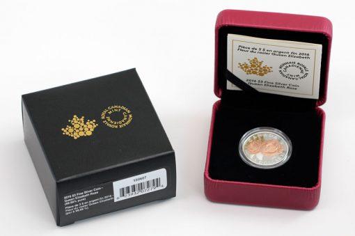 2016 Queen Elizabeth Rose Silver Coin and Case