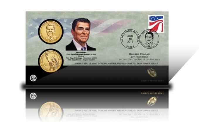 2016 Ronald Reagan $1 Coin Cover