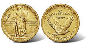 2016-W Standing Liberty Centennial Gold Quarter