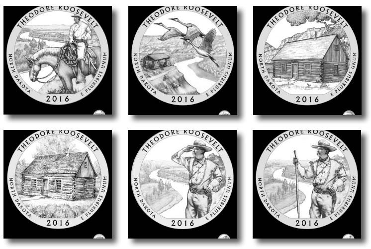 2016 P D S S Theodore Roosevelt National Park QUARTER 4 SET PDSS Mint Clad Proof