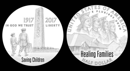 Designs for 2017 Boys Town Centennial Commemorative Clad Half-Dollar