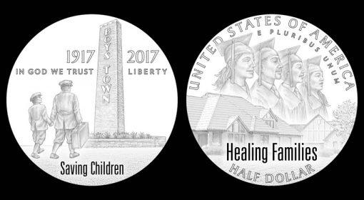 Designs for 2017 Boys Town Centennial Commemorative Clad Half-Dollar