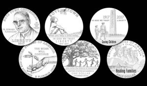 Designs for 2017 Boys Town Centennial Commemorative Coins - Gold, Silver and Clad