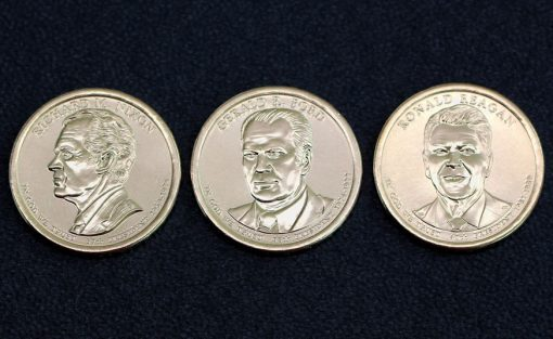 Nixon, Ford, and Reagan 2016 Presidential $1 Coins
